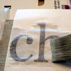 how to transfer printed letters onto wood