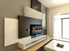 Because of modern technology The TV so flattened that drastically changed the interior customization options. Fortunately, for the better: it has become convenient to merge it into the most unexpected places and thereby create a