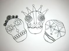 Day of the Dead wire skulls by Jo Fiorica.