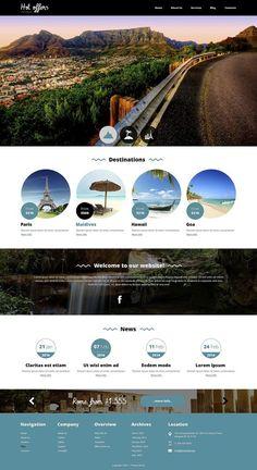 Travel Agency Website, Travel Website Design, Website Design Layout, Web Layout, Website Designs, Design Sites, Web Design Tips, Design Strategy, Web Design Inspiration