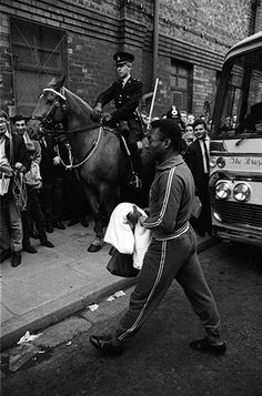 Pelé arrives at Goodison Park. 1966 World Cup