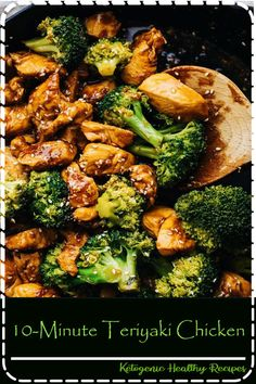 Quick easy Teriyaki Chicken Broccoli Juicy chicken in a homemade teriyaki sauce SO yummy and perfect for takeout at home An easy dinner recipe that is healthy. Fun Easy Recipes, Good Healthy Recipes, Healthy Snacks, Healthy Eating, Dinner Healthy, Recipes Dinner, Keto Recipes, Healthy Quick Meals, Dessert Recipes