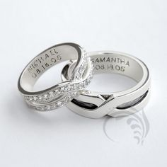 unique wedding ring his and her sets rONFAIDia