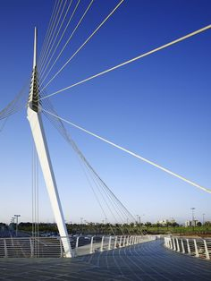 Petah-Tikva Footbridge / Tel Aviv (Gallery) - Santiago Calatrava – Architects & Engineers