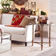 Wisteria Venetian Bamboo Leg Table