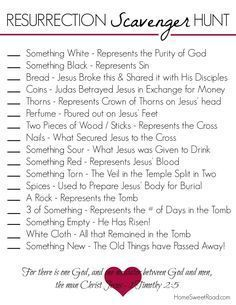 easter scavenger hunt printable activities for kids christian