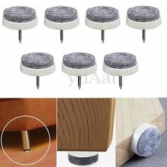 £5.69 - 9mm thick - 50Pcs 20mm Table Chair Leg Feet Floor Felt Pad Skid Glide Steel Nail Protectors in Home, Furniture & DIY, Furniture, Other Furniture | eBay