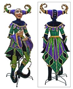 Katherine's Collection Mardi Gras Collection Life Jester Doll