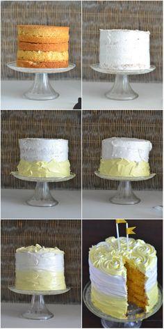 Ombre lemon cake