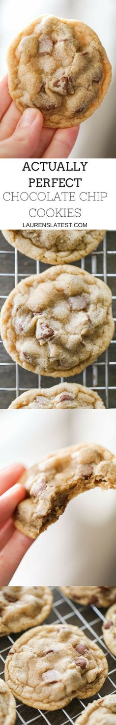 Actually Perfect Chocolate Chip Cookies are just that…PERFECT! Super soft and extra chocolatey cookies just how I think all cookies should be!