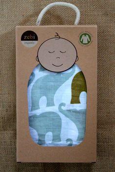 Zebi Brand Swaddle Blankets + 100% Organic Cotton Muslin