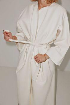 / white robe