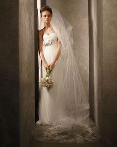 61c2f5ec92a White by Vera Wang  Empire waist halter-neck