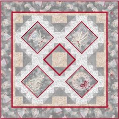 Quilt Kit TOp Holiday Elegence + Free Pattern