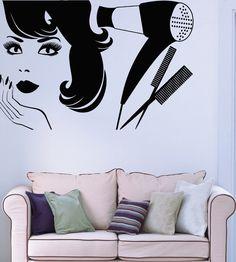Wall Sticker Vinyl Decal Beauty Salon Barbershop Hair Style Girl(China (Mainland)) Wall Sticker, Vinyl Decals, Keyword Trends, Barber Shop, Girl Hairstyles, Wall Stenciling, Salon Ideas, Hair Styles, China