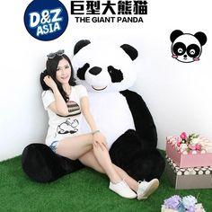 99.00$  Watch now - http://ali6ov.worldwells.pw/go.php?t=32712299750 - large stuffed Panda doll hug panda cute giant plush toys doll creative Valentines gifts birthday gifts