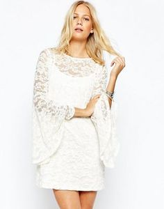 Abercrombie & Fitch Lace Dress With Bell Sleeve