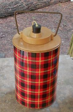 THERMOS COOLER JUG Vintage Skotch Jug plaid by JunqueInTheTrunque, $38.00