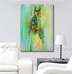 Hey, I found this really awesome Etsy listing at https://www.etsy.com/listing/200919889/abstract-painting-green-painting