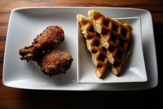 Gluten-Free Waffles & Chicken. You know you want it. via Misterbelly.com