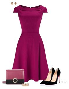 Purple by ksims-1 on Polyvore featuring polyvore, fashion, style, Phase Eight, Christian Louboutin, Bulgari, Kendra Scott and clothing