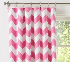 """Chevron Blackout Panel, Pink 44 x 63"""" - Em's old curtains (color matching)"""