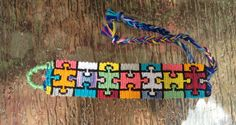 Puzzle friendship bracelet pattern number #9513 - For more patterns and inspiration visit our web or the app!