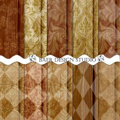 Digital background papers with Rustic Harlequin patterns. 12x12 inches and 8.5 x 11 inches, 300 dpi, jpegs.  Instant download, digital backgrounds.