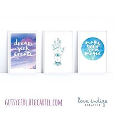 Receive one of these beautiful @alishabrunton A5 prints in January's Higher Living Box! Over $100 value for just $55. #gutsygirlart #gutsygiftboxes #artprint #typography #dream #magic #hamsa #protection #artist #smallbusiness #shoplocal #subbox #subscriptionbox