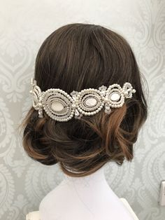 Bridal hair vine  Bridal hair chain  Gatsby  1920s