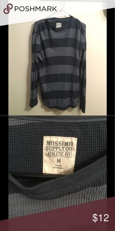 Mossimo Supply CO. Long Sleeve Shirt Dark grey, black, and navy athletic fit 100% cotton long sleeve shirt. In good condition. Mossimo Supply Co Shirts Tees - Long Sleeve