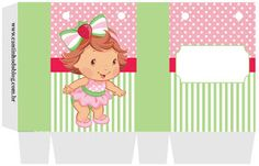 KIT FESTA PRONTA MORANGUINHO BABY GRÁTIS PARA BAIXAR Strawberry Shortcake Party, Baby Drawing, 3d Letters, Cars Birthday Parties, Candy Wrappers, 1st Birthdays, Origami, Alice, Kids