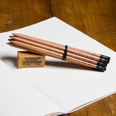 Check out these Cedar Pencils and Gum Eraser, made in Jersey City, NJ by General Pencil Company. Purchase to capture your thoughts with sustainably-grown cedar and support 30 American workers. Gets you 106 Boom™ Points.