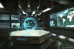 Battle Commander Strategy Room, Stephen Zavala on ArtStation at https://www.artstation.com/artwork/battle-commander-strategy-room