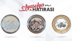 Ayasofya Açılış Hatırası - 24 Temmuz 2020 tarihinde ibadete açılan Ayasofya-i Camii Kebir Şerifi için hatıra ürünler Hagia Sophia, Coins, Personalized Items, Grand Mosque, Turkish Lira, Rooms