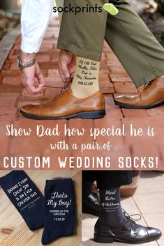 Custom Printed Father of the Bride and Groom January Wedding, Fall Wedding, Our Wedding, Dream Wedding, Wedding Ideas, Groom Wedding Socks, Groom Socks, Wedding Stills, Father Of The Bride