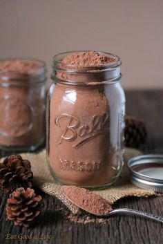 High protein healthier hot cocoa mix done in just 5 minutes. Great holiday gift idea.