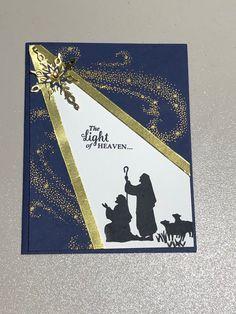 Spot light effect Chrismas Cards, Christmas Cards 2018, Stamped Christmas Cards, Religious Christmas Cards, Xmas Cards, Holiday Cards, Christian Christmas Cards, Card Making Inspiration, Making Ideas
