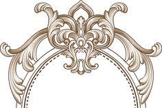M#057 on Behance Motif Design, Border Design, Textile Design, Wall Painting Decor, Stencil Painting On Walls, Victorian Pattern, Baroque Pattern, Textile Prints, Textiles