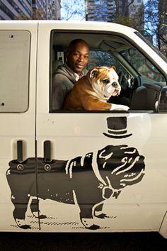 Bulldog Cruisin' in a Bulldog Van!