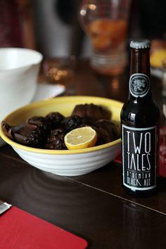 Two Tales Bohemian Black Ale and Artichokes  www.facebook.com/media/set/?set=a.901520036540936.1073741826.522163197809957&type=1
