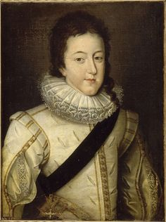 Louis XIII, king of France and Navarre (1601-1643) at the moment of his wedding in 1616, after Frans Pourbus the Younger (1569-1622), Versailles, châteaux de Versailles et de Trianon © RMN (Château de Versailles) / Franck Raux