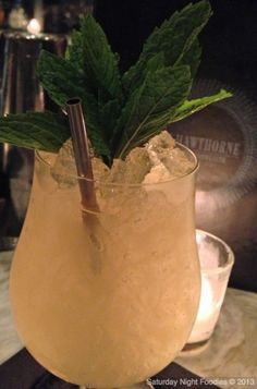 Vida & Del Maguey Mezcal, Cocchi Americana, Muddled Grapefruit and Mint