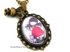 Collar camafeo Muñeca Gorjuss - REF 06- de La Tienda Vintage de Kima por DaWanda.com