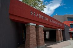 Bradbury Science Museum and the Otowi Station book store next to it.