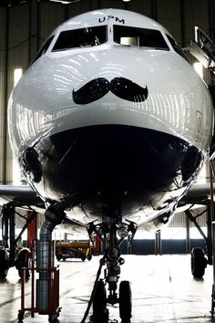 I mustache you a question . . . Airbus or Boeing? #aviationhumor #playonwords #airbus #airbusorboeing #boeing #mustache