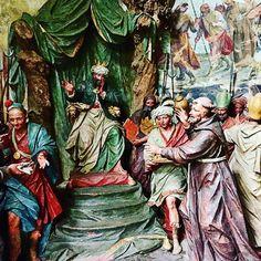 Saint François d'Assise prêche la vraie foi au Sultan Al-Kamil Sacro Monte d'Orta Italie