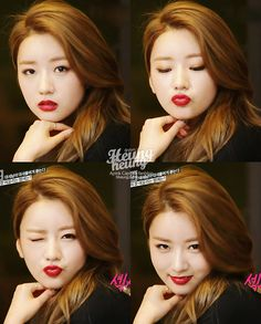 APink BoMi Red Lips