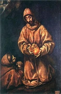 * El Greco - - - St. Francis and Brother Rufus - 1606