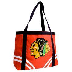 Chicago Blackhawks NHL Canvas Tailgate Tote xyz
